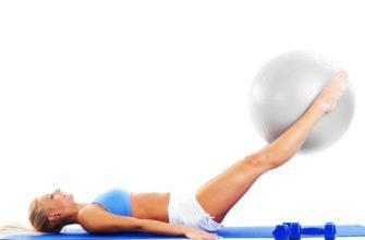 4 упражнения для спины на фитболе